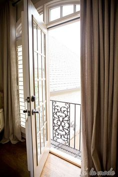 juliet balcony for Master...love this.