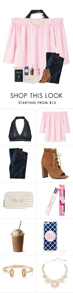 """""""Do one thing a day that scares you"""" by jiejiebear ❤ liked on Polyvore featuring Free People, MANGO, DL1961 Premium Denim, Nine West, Mossimo Supply Co., Kendra Scott and Kate Spade"""