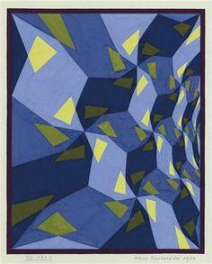 Opus 131 C Artist: Hans Hinterreiter Completion Date: 1977 Style: Op Art Genre: tessellation