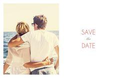 Die Save-the-date Karte Natürlich ist simpel, aber dadurch auch sehr elegant   #hochzeit #savethedate #wedding #weddingwednesday #love