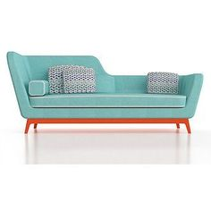 Mid century modern daybed - Eric Berthès Jeremie - (space era, atomic design, furniture) https://emfurn.com
