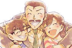 Detective Conan Kogoro, Ran y Conan