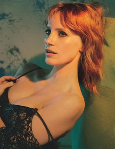 Jessica Chastain gets her closeup in Alexander McQueen dress for W Magazine March 2017