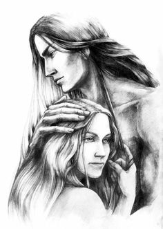 Fingon in Love by tuuliky.  Gil-galad's parents early on. Amazing pencil rendering!