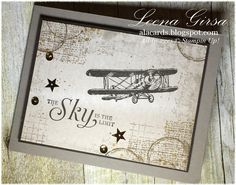 A La Cards: Sky is the Limit - SU - Masculine card featuring the Sky is the Limit and Timeless Textures stamp sets