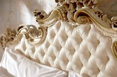 Tufted & Guilded Head Board.