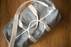 Classic Duffel—Gray $70  Made in Maine