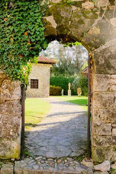 A beautiful doorway in Santillana del Mar