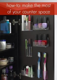how to make the most of your counter space. clutter free is so relieving.