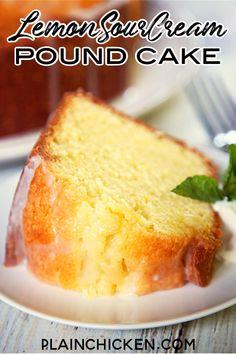 Köstliche Desserts, Lemon Desserts, Lemon Recipes, Baking Recipes, Delicious Desserts, Dessert Recipes, Plated Desserts, Cake Pops, Pound Cake Recipes