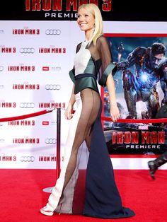 Gwyneth Paltrow rocked a sidebutt-baring dress to the Hollywood premiere of Iron Man 3.