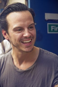 Andrew Scott- he scares me. Saw him in Band of Brothers and yelped in fear. I didn't expect Moriarty!