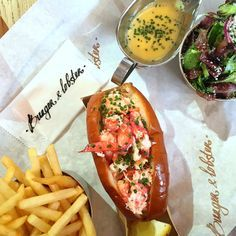 The premise is simple at Burger and Lobster. No menu, there are just three items: whole lobster, lobster roll or beef burger. All £20. I loved it!