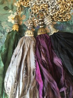 A personal favorite from my Etsy shop https://www.etsy.com/listing/246916032/bohemian-glam-unique-sari-silk-tassel