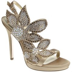 Nina BRYYCE ROYAL GOLD CRYSTAL SATIN by Nina Shoes