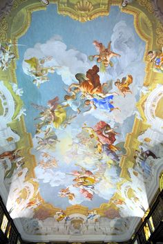 Melk Abbey...It is located above the town of Melk on a rocky outcrop overlooking the river Danube in Lower Austria, adjoining the Wachau valley..