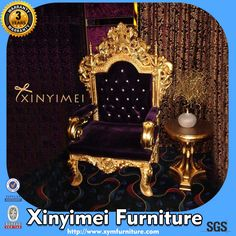 Wedding Imitated Wooden Armrest Throne Chairs XYM-H98 $400~$450 Throne Chair, Wholesale Furniture, Antique Chairs, Home Look, Armchair, Contemporary, Card Reader, Moulding