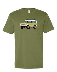 Ford Bronco T-Shirt, Truck in Gold