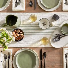 Stoneware Grain Bowl - Green - Hearth & Hand™ with Magnolia Beautiful Table Settings, Chip And Joanna Gaines, Shops, Diy Home Decor Projects, It Goes On, Cereal Bowls, Flatware Set, Salad Plates, Dinner Plates