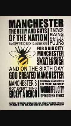 The greatest city on earth Manchester Map, Manchester England, Manchester Ariana Grande, Maps Posters, Midland Hotel, I Love Mcr, Salford, Warts, The Republic