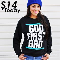Two Top Selling Sweatshirts $13 Go Shop-> at www.jcluforever.com under Flash Sale #godfirstbro