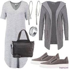 Stylizacje dnia z Inspiruj.net – Dzianinowe sukienki na jesień - KobietaMag.pl Smart Casual, Polyvore, Fashion, Moda, Fashion Styles, Fasion