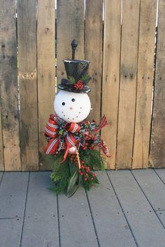 Whimsical muñeco de nieve de vacaciones por jennifercausey en Etsy