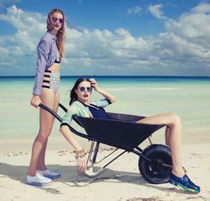 Victoria Tuaz and Valeriya Melnik by Charlie Engman for Jalouse, April 2013