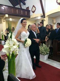 Noiva Debora com vestido de Noiva Exclusivo Geraldo Couto