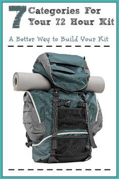 Printable 72 hour kit checklist | 72 hour kit ideas | Seven Essential Categories for Your Family's 72 Hour Kit | DIY 72 Hour Kit | Emergency Preparedness
