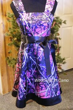 MUDDY GIRL Camo Flower Girl Dress With BORDER Pick Your Colors For Country Wedding