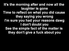 2pac-They Don't Give a Fuck About Us (lyrics on screen) - YouTube