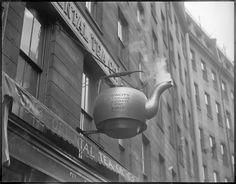 Tea kettle sign, Oriental Tea Co., near Court Street,Boston