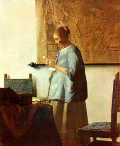 Vermeer, s. XVII. La demostración de cómo introducir luz en una obra.