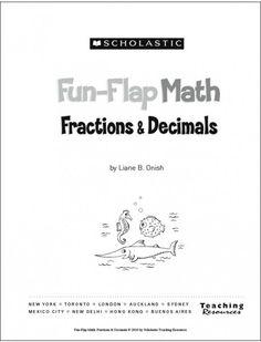 Fun-Flap Math: Fractions & Decimals