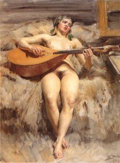 "artist-zorn: ""Studio Idyll, 1918, Anders Zorn """