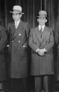 "Charles ""Lucky"" Luciano and Meyer Lansky. Real Gangster, Mafia Gangster, Gangster Quotes, Italian Gangster, Gangster Style, Meyer Lansky, Italian Mobsters, 1920s Gangsters, Mafia Crime"
