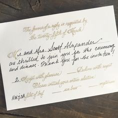How to properly fill out an RSVP card