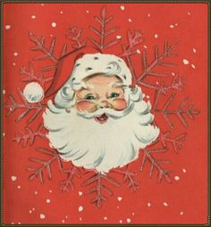 Retro Santa and Snow. Christmas Card Images, Vintage Christmas Images, Old Fashioned Christmas, Christmas Scenes, Christmas Past, Retro Christmas, Vintage Holiday, Christmas Greeting Cards, Christmas Pictures