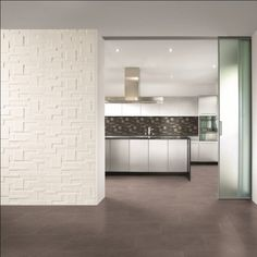The mix stone range of feature tiles is perfect for creating kitchen and bathroom feature walls. Choose from monochrome black and whites to natural looking beiges and greys. Room Wall Tiles, White Wall Tiles, Kitchen Wall Tiles, White Walls, Bathroom Feature Wall, Feature Tiles, Küchen Design, House Design, Bad Wand