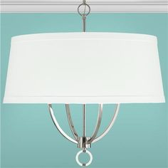"Sleek Simplicity Shade Chandelier. Maybe. Kitchen table. $359. 24""D"