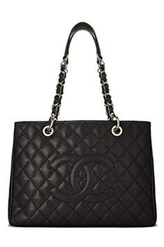87e17ab5755a $3950 - CHANEL Black Quilted Caviar Grand Shopping Tote (GST) (Pre-Owned