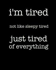 Sleepy tired too tho