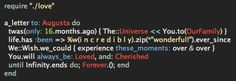 """#NerdAlert: """"A letter to my daughter, Augusta, in #Ruby"""" (a love note in code)"""