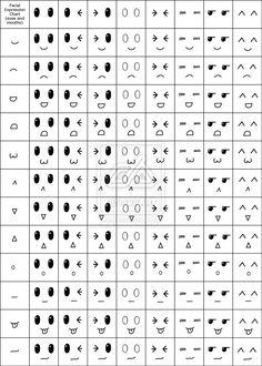 Facial Expression Chart :D by StaticFactory.deviantart.com on @deviantART
