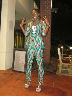 My custom ankara suit made by Olivia, the best seamstress EVER.