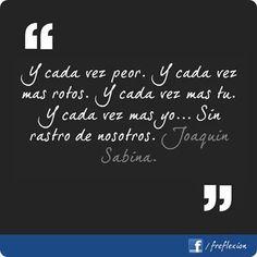 Joaquín Sabina.