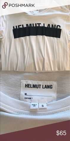 HELMUT LANG T-SHIRT short sleeve helmut lang tee. worn maybe once. in perfect condition! oversized fit. Helmut Lang Tops Tees - Short Sleeve