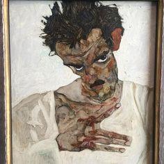 EgonSchiele LeopoldMuseum Autoportrait  #EgonSchiele #LeopldMuseum #SelfPortrait