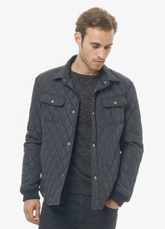 Fancy - Black Quilted CPO Jacket